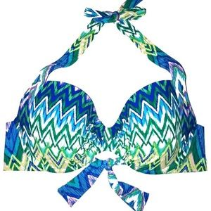 Kenneth Cole zigzag Multicolor Underwire halter